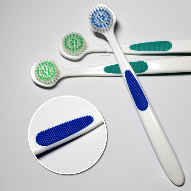 Tongue Scraper with Bristles