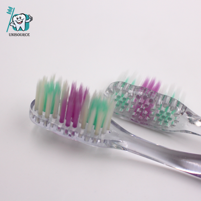 Transparent Adult Toothbrush - one lazer printing label inside handle