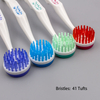 Round Head Plastic Tongue Cleaner With Bristle